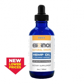 CBD Tincture – Hemp Oil Drops 3600mg CBD – Natural Flavor